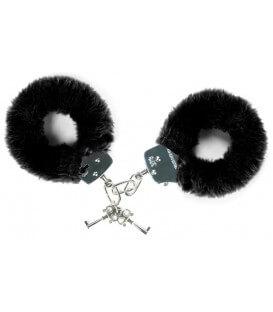 Menottes en fourrure noire