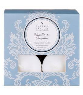 Bougie chauffe-plat Vanille Coco x8