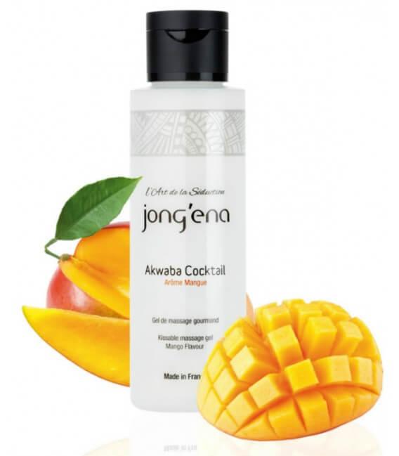Huile de massage comestible chauffante Mangue