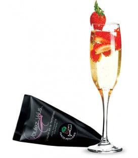 Huile de massage chauffante Fraise Champagne - Format mini
